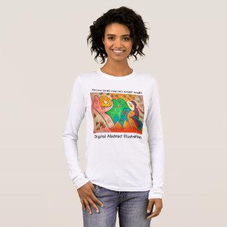 Digital Abstract Illustration DAI C Long Sleeve T-Shirt