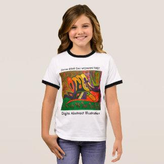 Digital Abstract Illustration DAI C Ringer T-Shirt