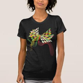 Digital Abstract Retro Dots Modern Art Butterfly Tee Shirts