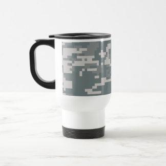 Digital ACU Camoflage 15 Oz Stainless Steel Travel Mug