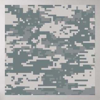Digital ACU Camoflage Poster