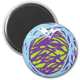 Digital Apple 6 Cm Round Magnet