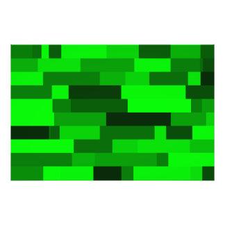 Digital Art Abstract Green Rectangles Photo Art