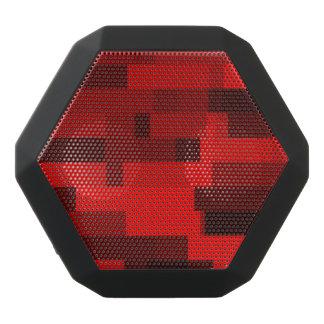 Digital Art Abstract Red Rectangles Black Boombot Rex Bluetooth Speaker