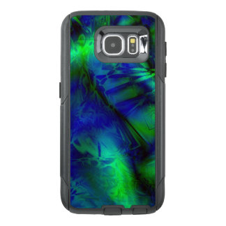 Digital Art Blue and Green Abstract Pattern OtterBox Samsung Galaxy S6 Case