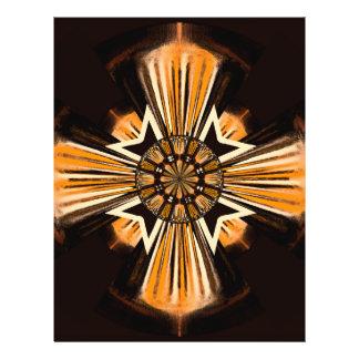 Digital art cross 21.5 cm x 28 cm flyer
