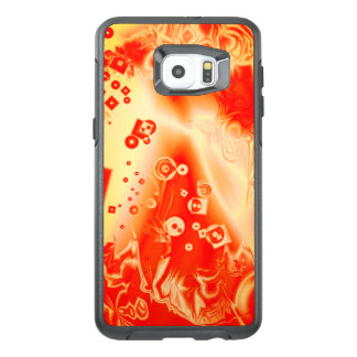 Digital Art Red Yellow Abstract Pattern OtterBox Samsung Galaxy S6 Edge Plus Case