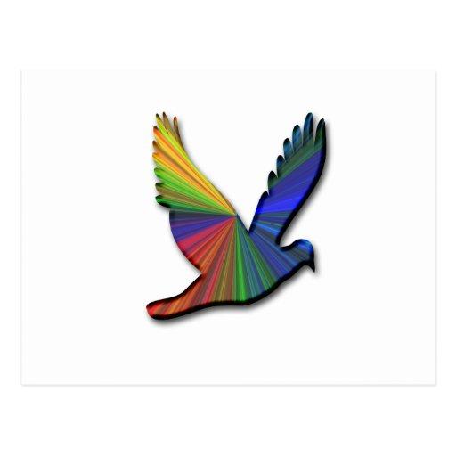digital bird postcard