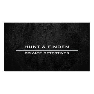Digital Black Leather Double-Sided Standard Business Cards (Pack Of 100)