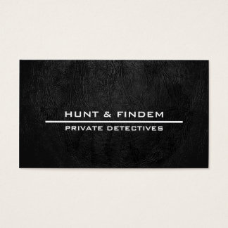 Digital Black Leather Business Card
