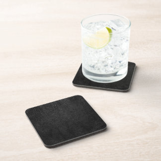 Digital Black Leather Drink Coasters
