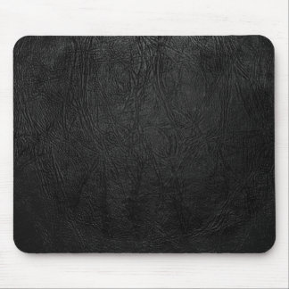 Digital Black Leather Mouse Pad