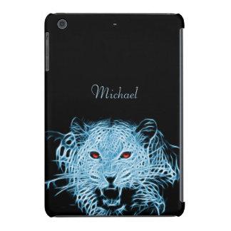 Digital blue leopard fractal iPad mini retina case