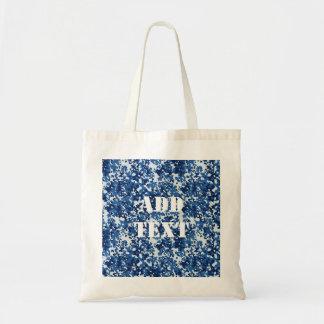 Digital Blue Military Pattern Tote Bag
