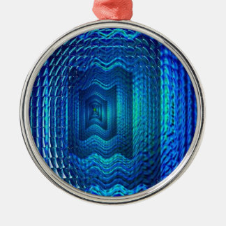 Digital blue multiple image christmas ornament