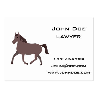 Digital Brown Horse Illustration Pack Of Chubby Business Cards