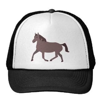 Digital Brown Horse Illustration Trucker Hat
