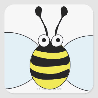 Digital Bumblebee Square Sticker