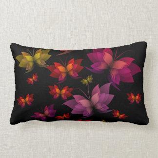 Digital Butterflies Lumbar Pillow