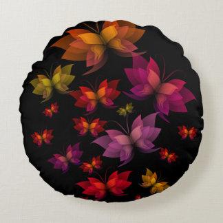 Digital Butterflies Round Pillow