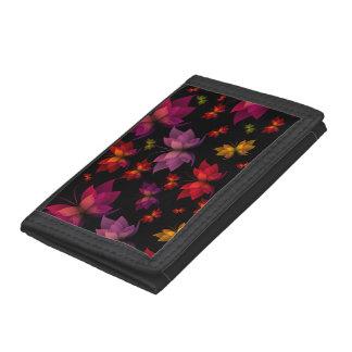 Digital Butterflies TriFold Nylon Wallet