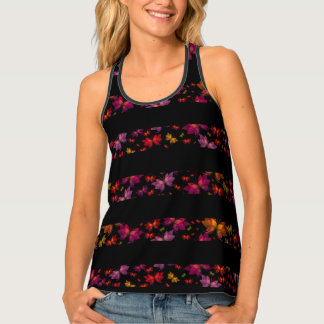 Digital Butterfly Striped All-Over Print Tank Top