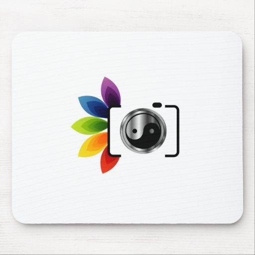 Digital Camera with ying yang symbol Mousepad