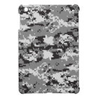 Digital camo Black white and grey Cover For The iPad Mini