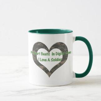 Digital Camo Heart Mug