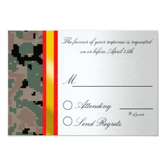Digital Camouflage Reply Card Invites