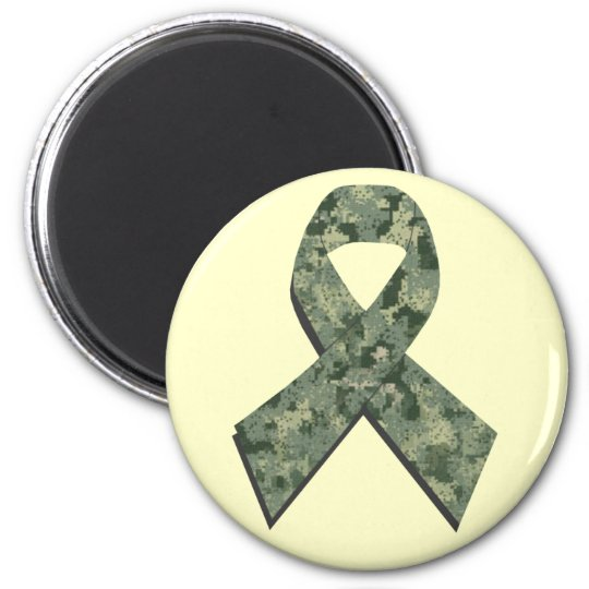 Digital Camouflage Ribbon Magnet