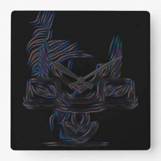 Digital Candelabra Square Clock