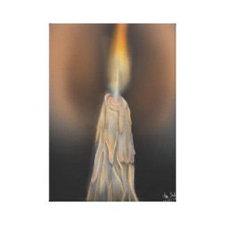 digital candle canvas print