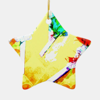 digital candy ceramic star decoration