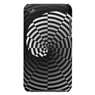 Digital Checker Yin Yang Barely There iPod Cases