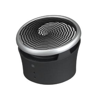 Digital Checker Yin Yang Spiral by Kenneth Yoncich Bluetooth Speaker
