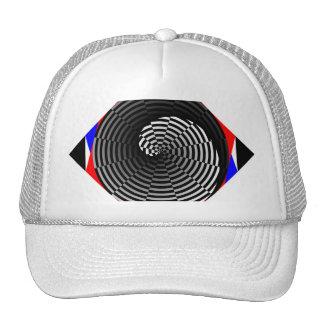 Digital Checker Yin Yang Spiral by Kenneth Yoncich Cap