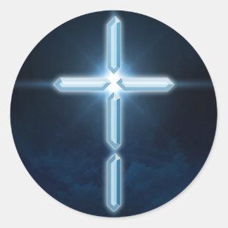 Digital Christian - Digital Cross Sticker Decal