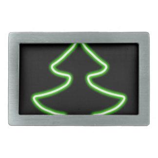 Digital Christmas tree Rectangular Belt Buckles