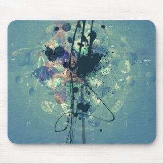 Digital collage abstract grunge style design mouse pad