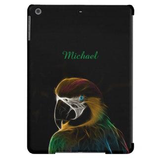 Digital colorful parrot fractal iPad air case