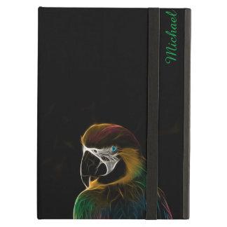 Digital colorful parrot fractal iPad air cover