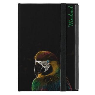 Digital colorful parrot fractal iPad mini cover