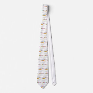 Digital Colourful Swirls grey polkadots circles Tie