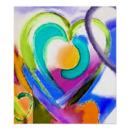 Digital colours Heart Poster