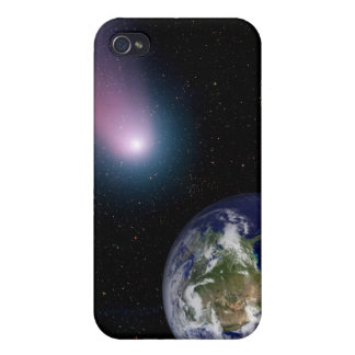 Digital composite of a comet heading towards Ea iPhone 4 Cover