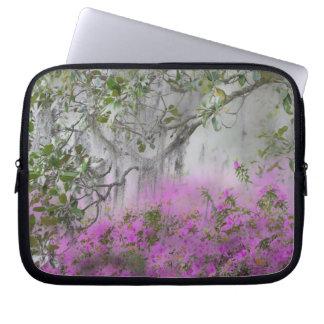 Digital Composite of Azaleas and magnolia tree Laptop Computer Sleeve