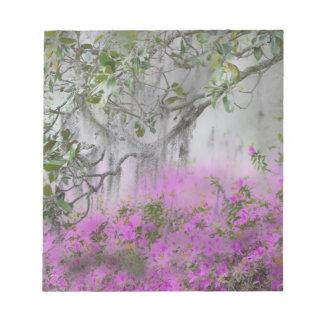 Digital Composite of Azaleas and magnolia tree Notepad