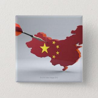 Digital Composite of China 15 Cm Square Badge