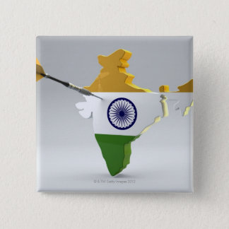 Digital Composite of India 15 Cm Square Badge